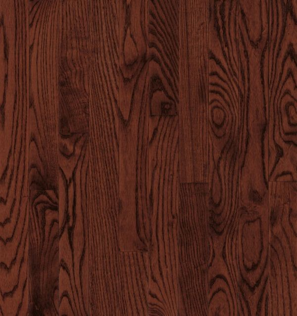"Armstrong Yorkshire Strip White Oak - Cherry Spice Hardwood Flooring - 3/4"" x 2 1/4"""